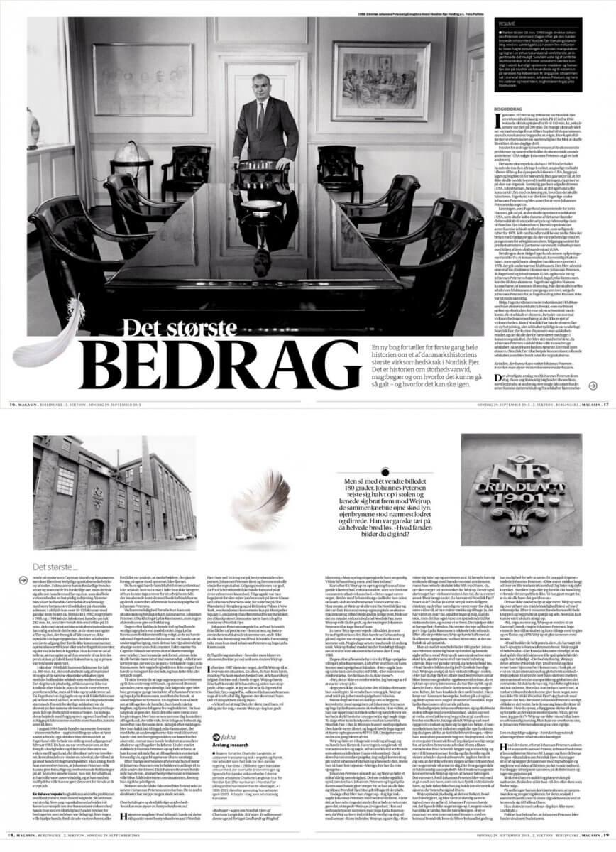Grethe Nielsen layout for Berlingske